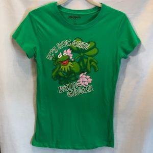 The Muppets green tee shirt size girls Med.